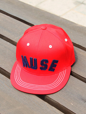 muse snapback ; rd [ 4color / free size ] 뮤즈 스냅백