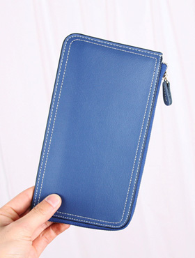 stitch hand wallet ; nv [ 3color / free size ] 스티치 손 지갑